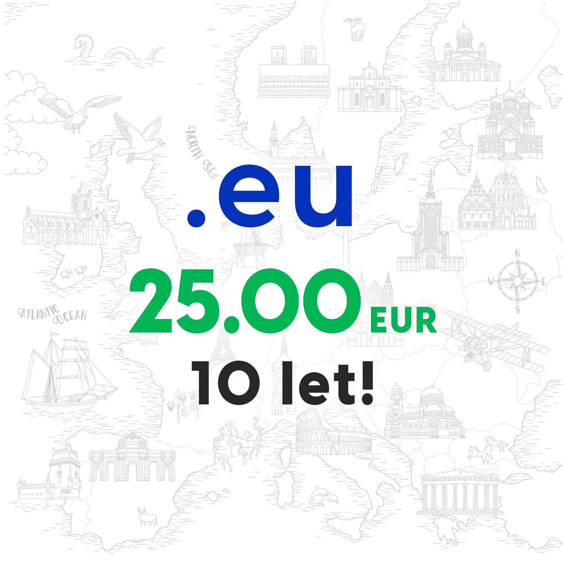 Registriraj svojo .eu domeno za 10 let